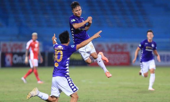 Clip trận Hà Nội thắng TPHCM 5-1 ở bán kết Cup Quốc gia