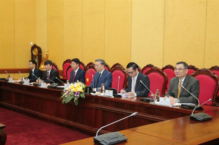 Bộ trưởng Tô Lâm phát biểu tại buổi Hội đàm.
