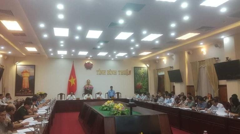 UBND tỉnh Bình Thuận họp khẩn tối 10-2