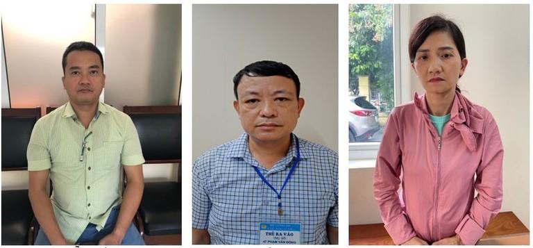 Các đối tượng (từ trái sang): Nguyễn Quốc Việt, Lê Thế Sơn, Vũ Thị Ninh.