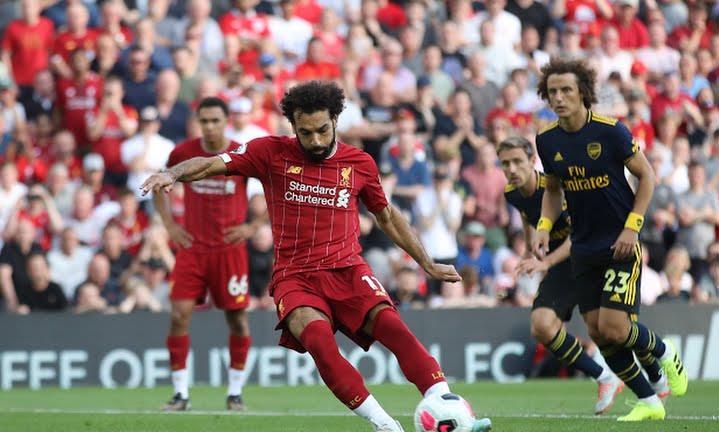Image result for Liverpool hạ Arsenal, vững ngôi đầu bảng